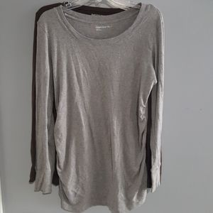 2 Maternity Tops by GAP Gray & Brown